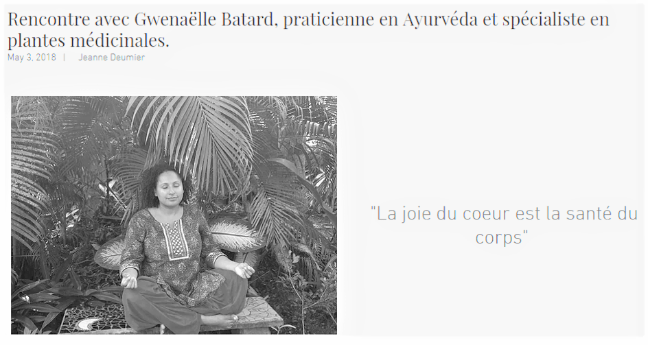 portrait gwenaelle batard ayurveda
