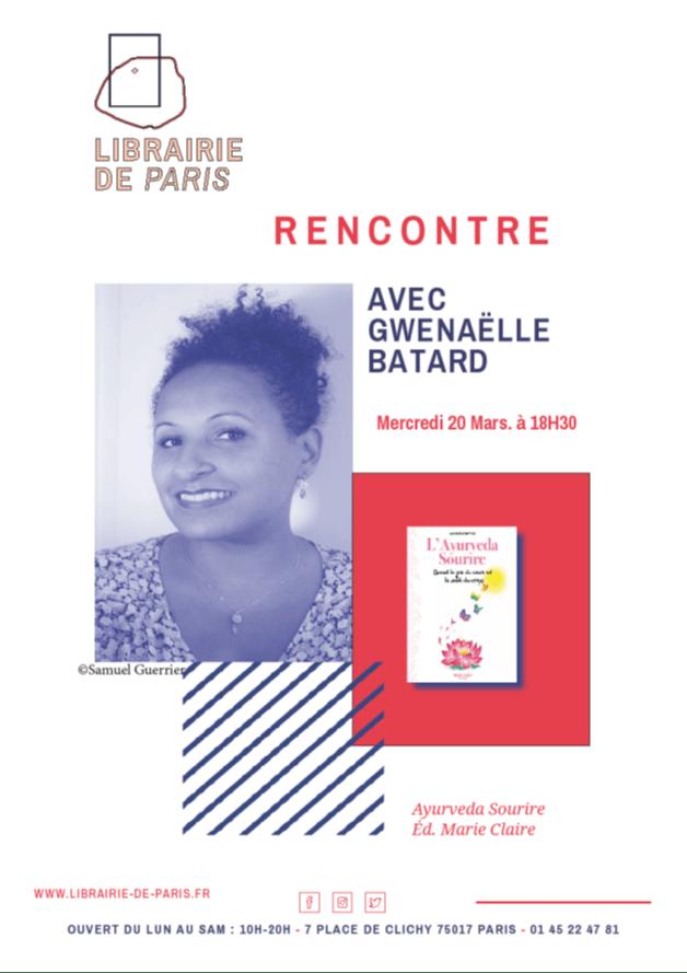 signature-dedicace-livre-ayurveda-sourire-librairie-de-paris-gwenaelle-batard